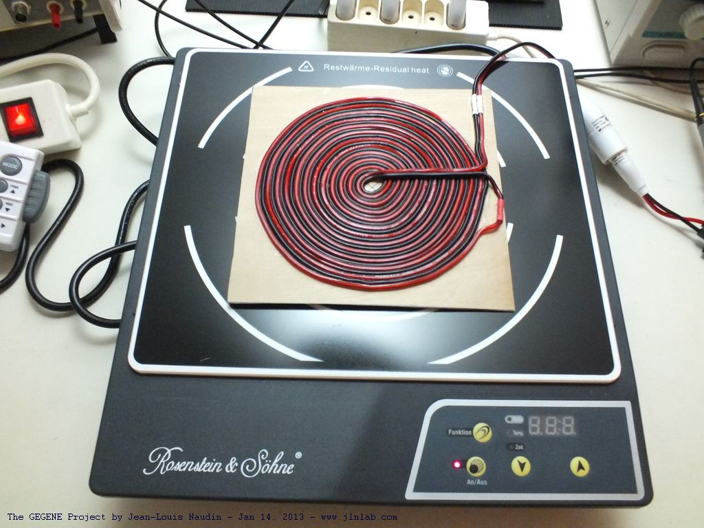 Test 11 Of The Flat Bifilar Coil V11 With A New Induction Circuit Diagram Cooker This Model Is Sold For Less Than 40 And It Able To Give Max Power 1800 Watts An Average 1200 W In 10 Programmable