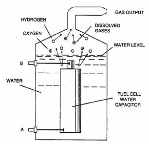 其中水作为电力谐振电路电介质释放氧气处理方法